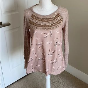 Anthropologie neutral sweater top
